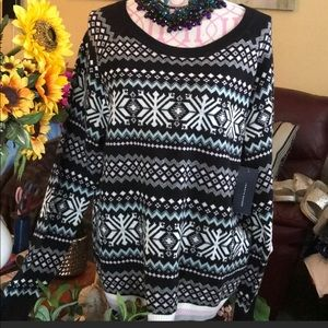 "NWT Tommy Hilfiger 17%Wool ""Snowflake"" Sweater XL"
